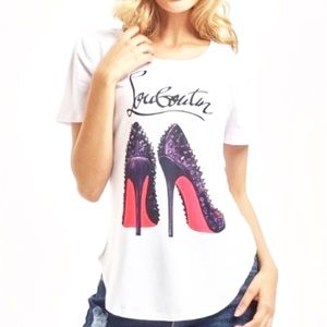 New CHRISTIAN LOUBOUTIN shoes graphic tee